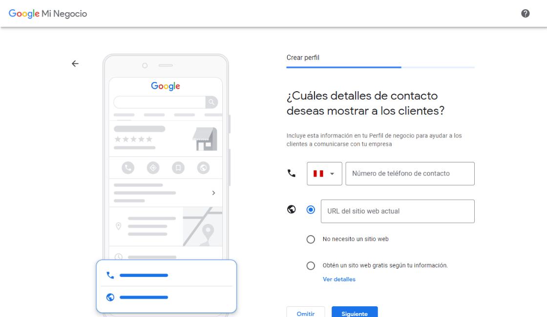 datos a llenar para crear cuenta de google my business
