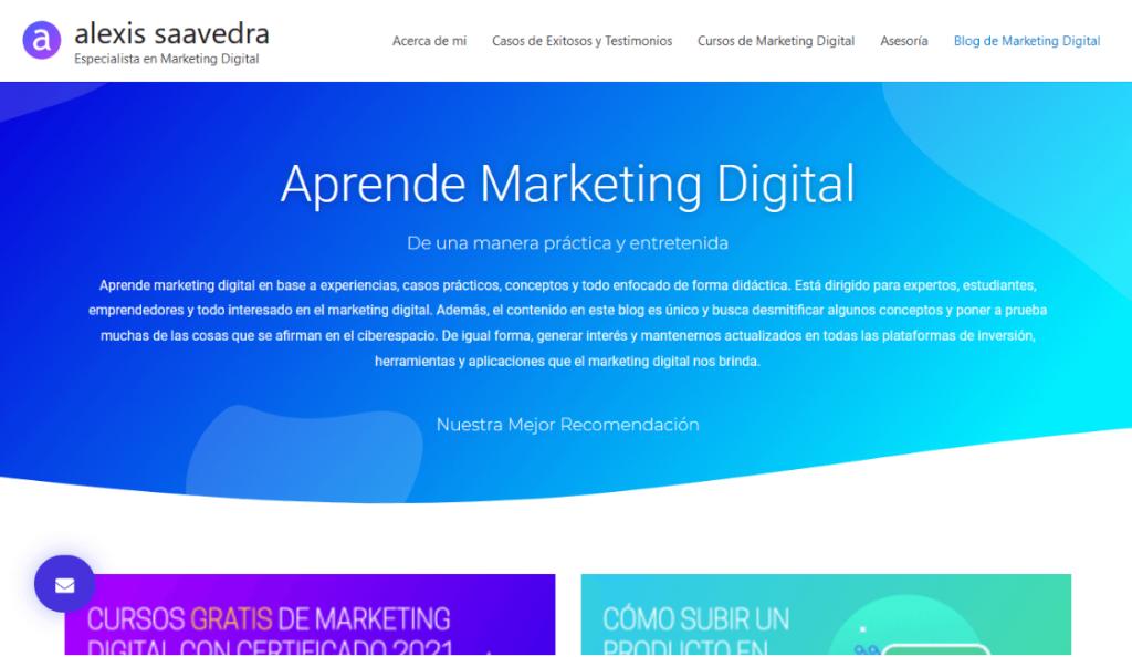 blogs de marketing digital alexis saavedra