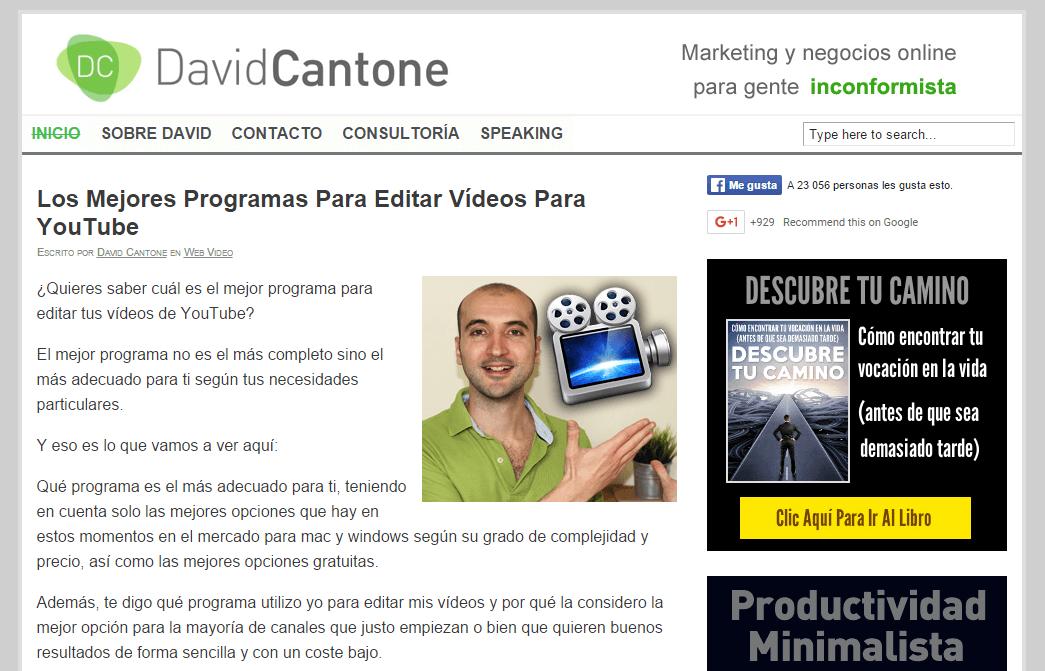 blog marketing digital david cantone