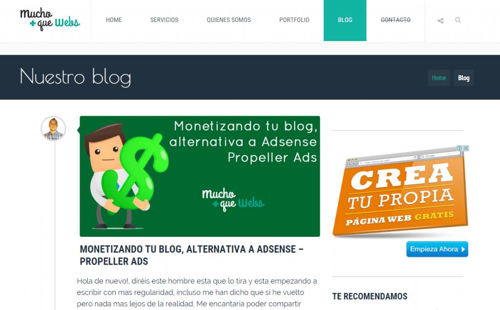 blog marketing digital mucho+ que webs