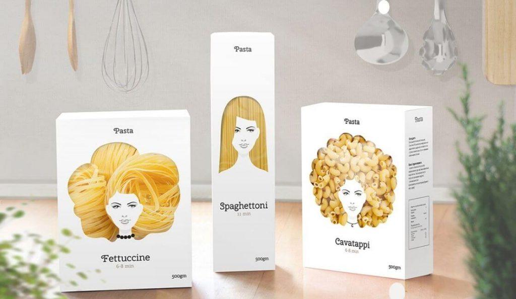 Good Hair Day Pasta empaque creativo