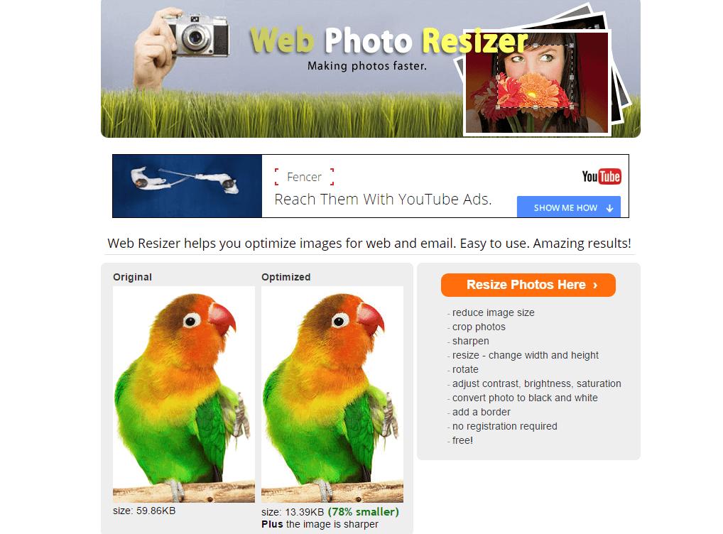 aplicacion gratuita webresizer