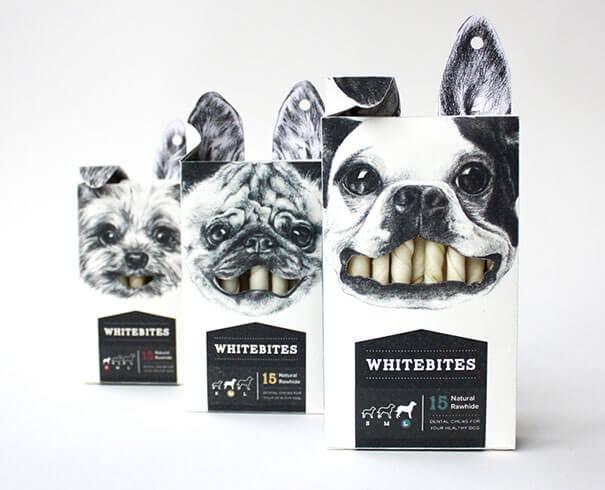 Whitebites packaging creativo