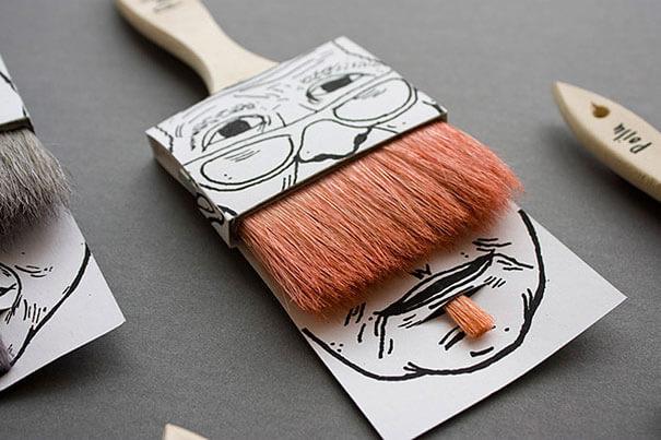 brochas bigote packaging creativo