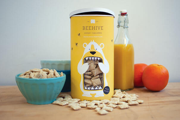 galleta beehive diseño packaging creativos
