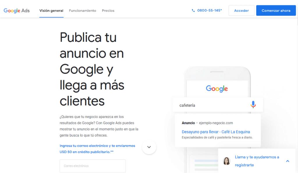 Google Ads entre las herramientas de google