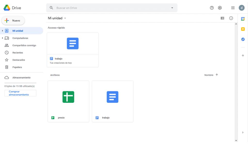 google drive entre las herramientas de google