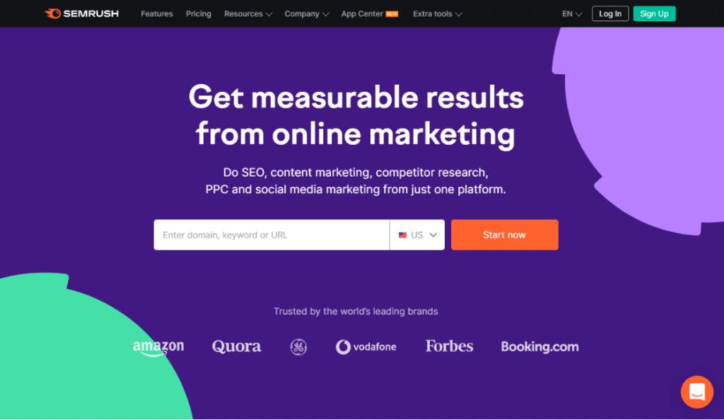 semrush entre las herramientas para marketing de contenido