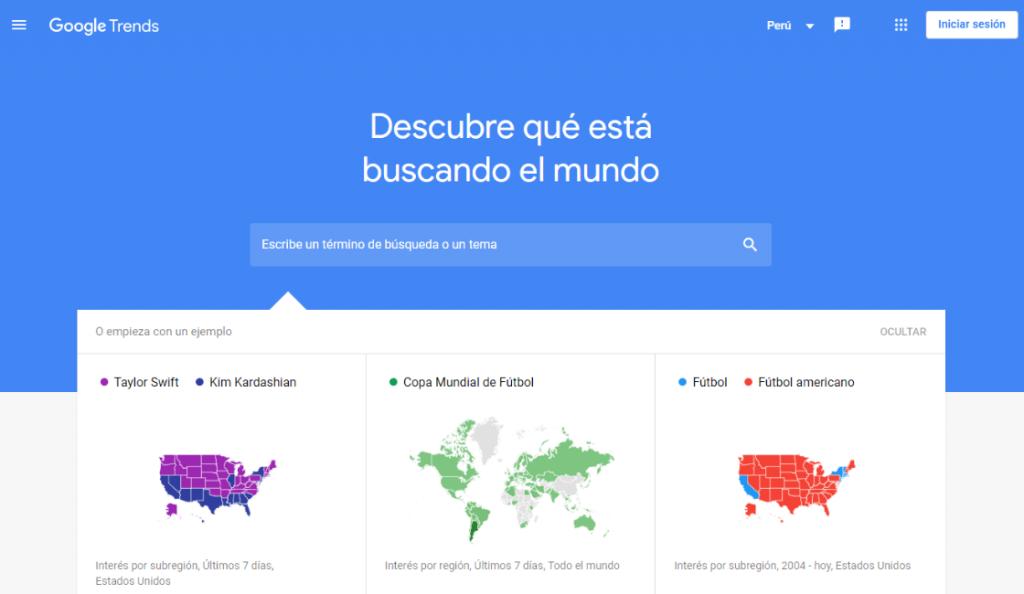 google trends conocida plataforma