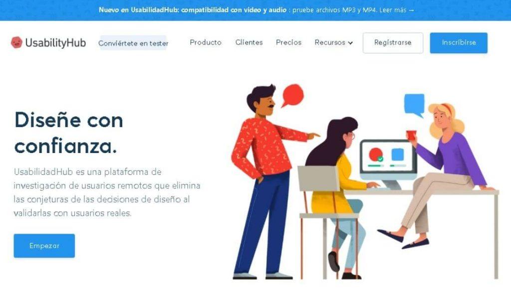 UsabilityHub plataforma ux