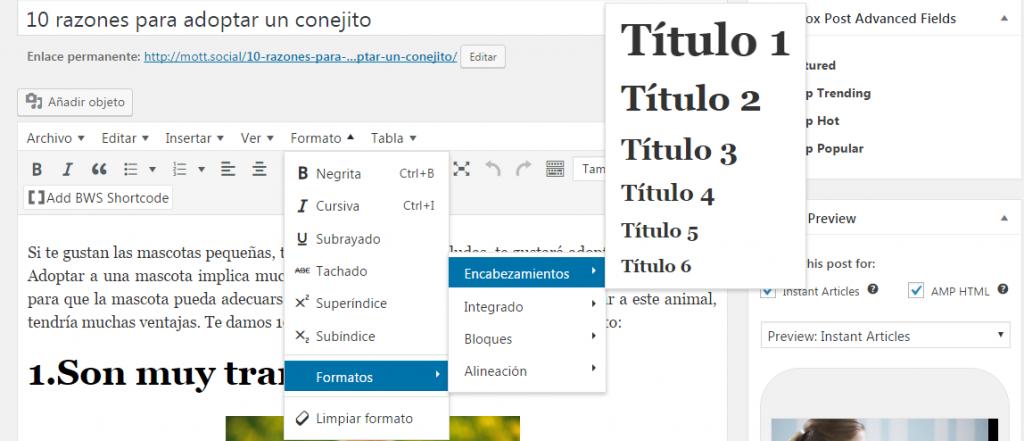 personaliza los titulos de tu pagina