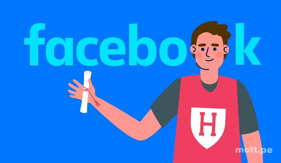 historia de facebook mark zuckerberg harvard degree