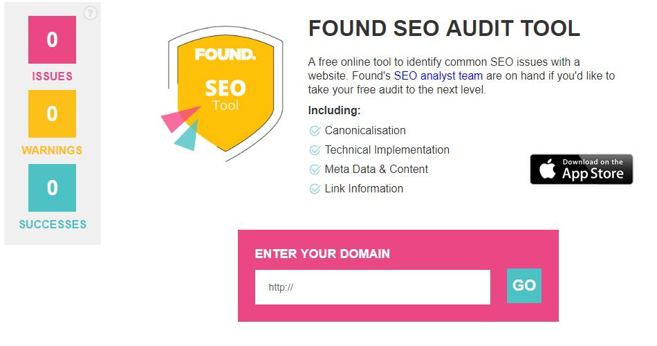 Found SEO auditoria