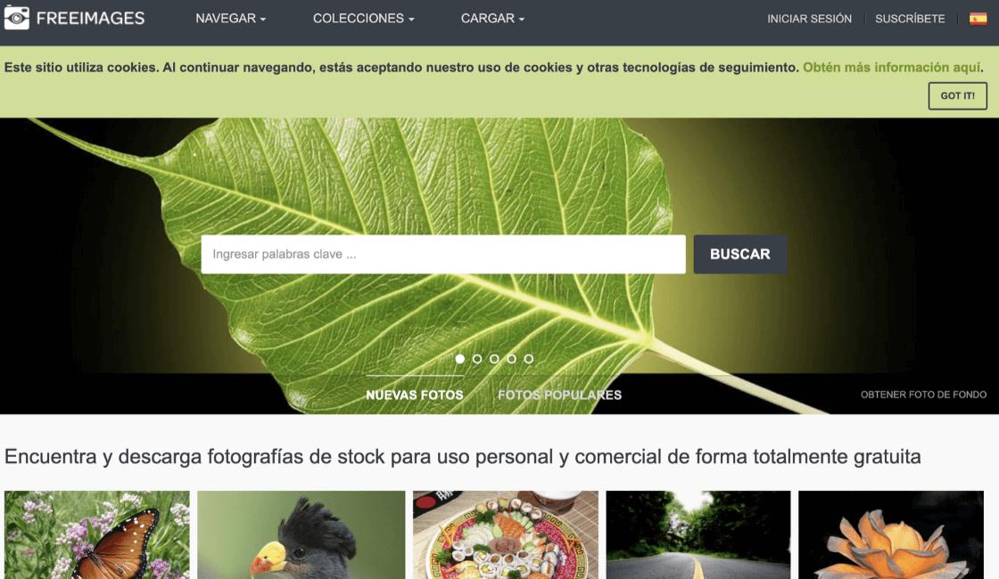 freeimages banco de imágenes gratis sin pago