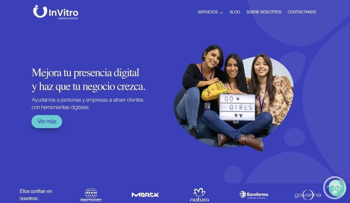 Invitro entre las agencias de marketing digital