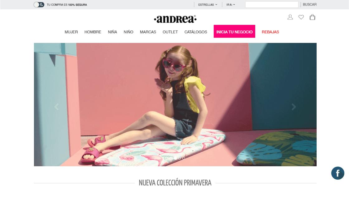 marketing digital de marca de ropa andrea mexico
