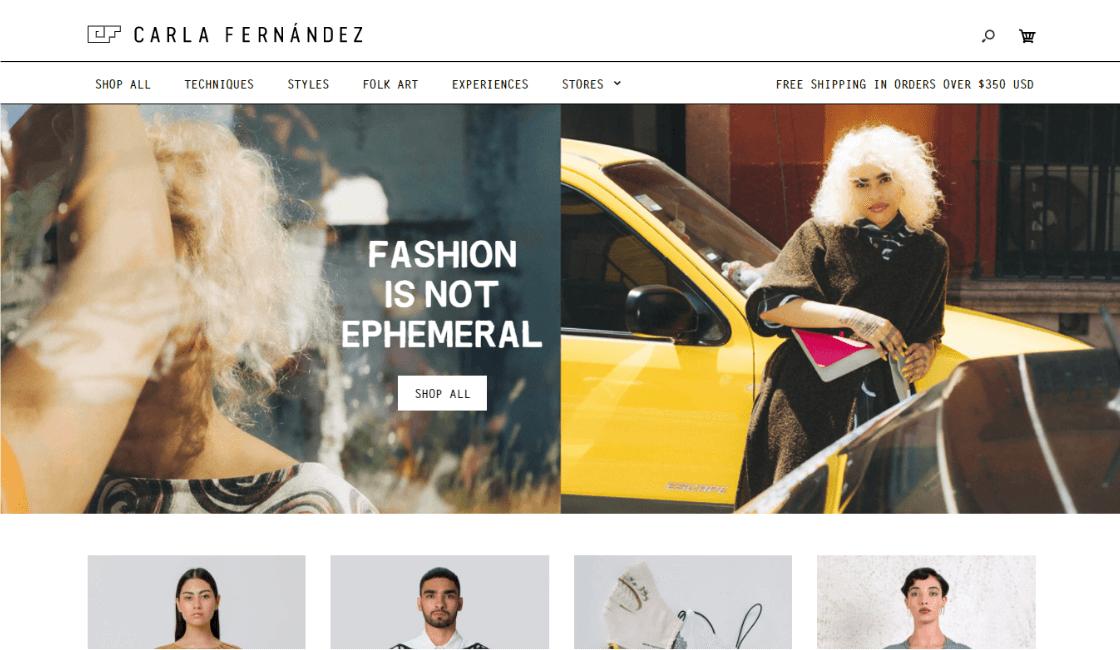 carla fernandez marketing marca de ropa mexicana