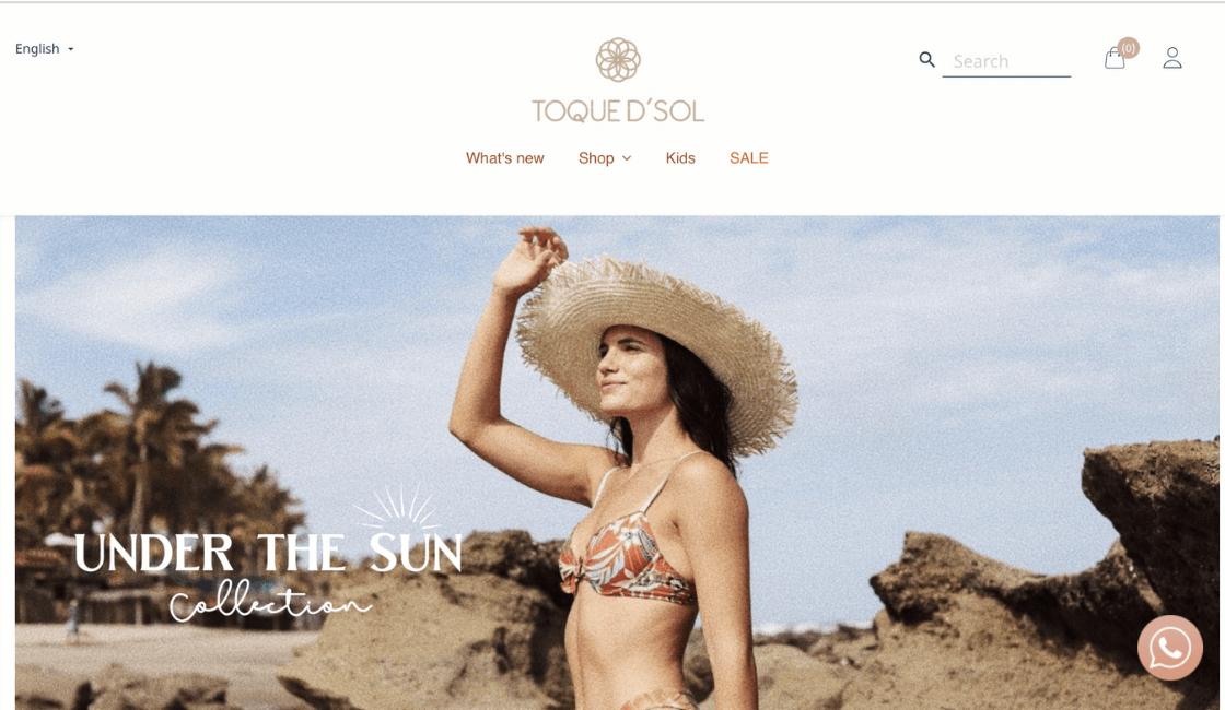 toque de sol marca de bikini peruana