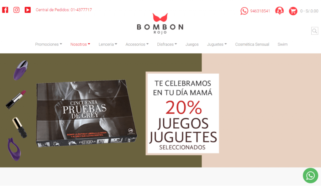 bombon rojo entre las marcas de lencería peruanas