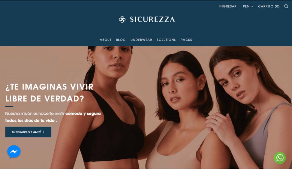Sicurezza entre las marcas de lencería peruanas