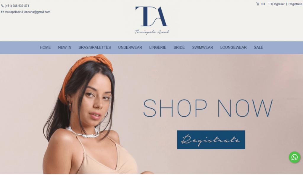 Terciopelo azul destaca entre las marcas de lencería peruanas
