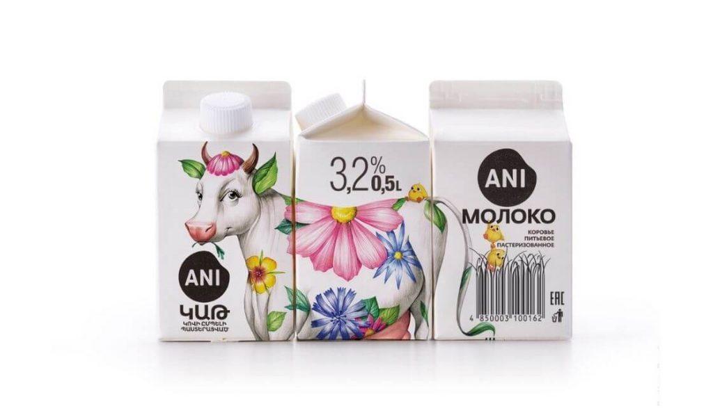 ani milk diseño de packaging