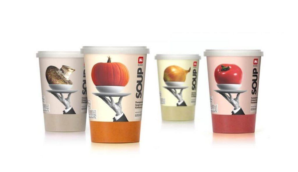 Delhaize Sopas packaging