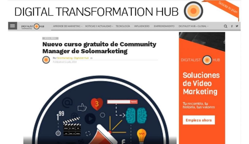 digital hub curso gratis para community
