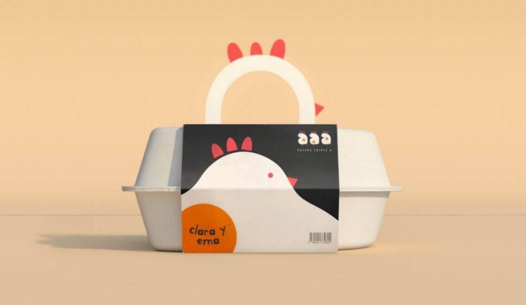 Huevos Clara y Ema packaging creativo