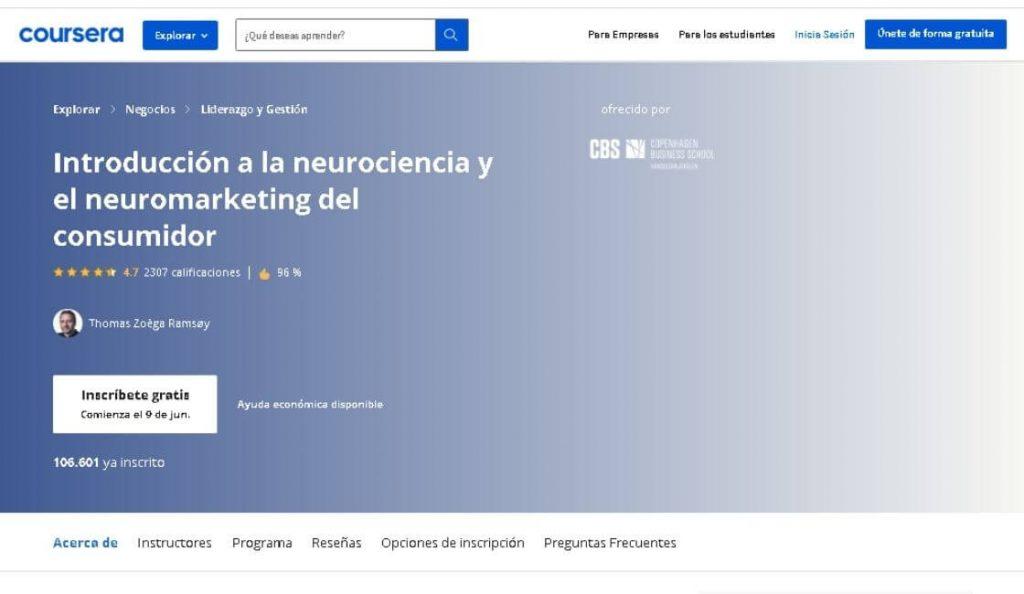 coursera curso online gratis neuromarketing